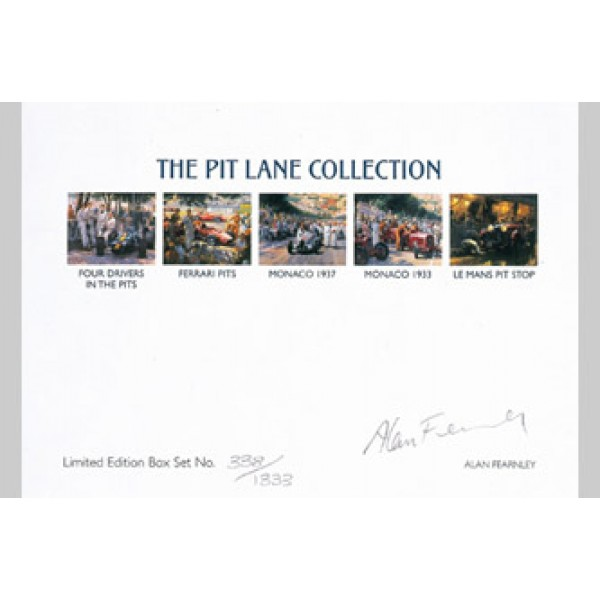 Alan Fearnley - The Pit Lane Writing Card Set