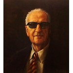 Alan Fearnley - Enzo Ferrari (Portrait)