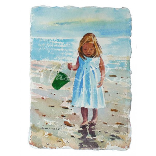 Alan Reed - Collecting Shells - Green Bucket