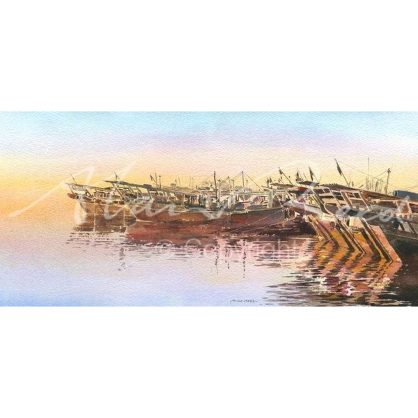 Alan Reed - Dhows, Calm Waters Middle East