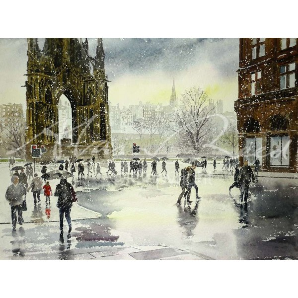 Alan Reed - Edinburgh in the Snow