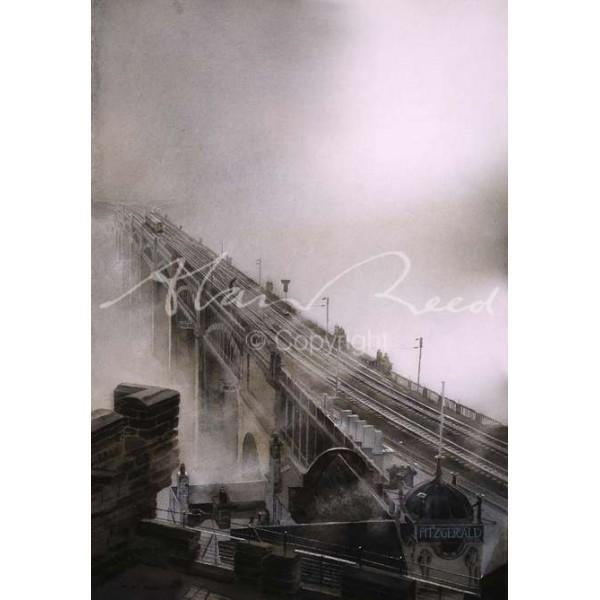 Alan Reed - Fog on the Tyne, High Level Bridge Newcastle