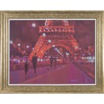 Alex Hook Krioutchov - Paris at Night Framed Print