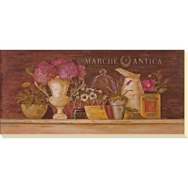 Angela Staehling - Floral Vignette I Canvas Print
