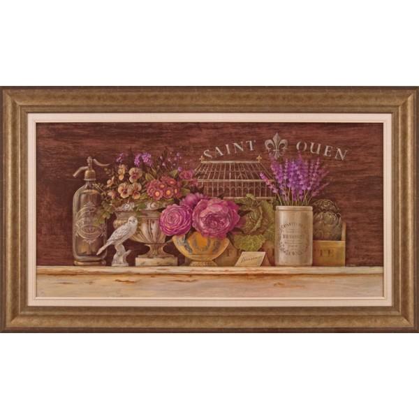 Angela Staehling - Floral Vignette II Framed Print