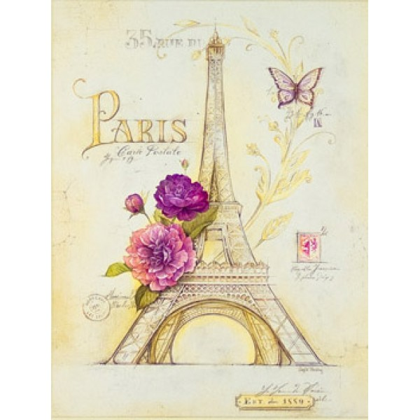 Angela Staehling - Paris In Bloom II Box Canvas Print