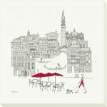 Avery Tillmon - World Cafés - Venice Canvas Print
