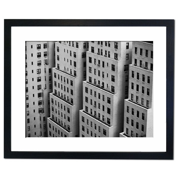 Apartment Buildings on Manhattan Island Framed Print