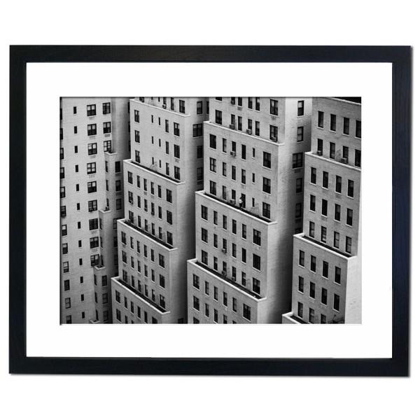 Apartment Buildings on Manhattan Island Framed Print
