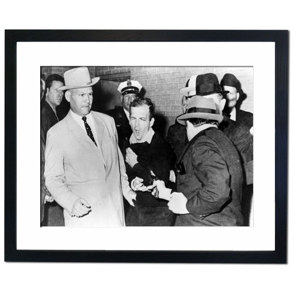 Assassination of Lee Harvey Oswald, who shot JFK Framed Print