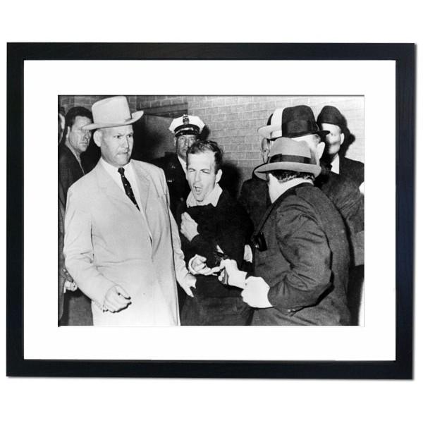 Assassination of Lee Harvey Oswald, who shot JFK Framed Print