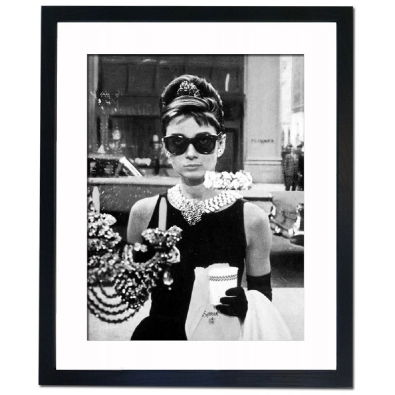 Audrey Hepburn In Breakfast At Tiffany S 1961 Framed Print