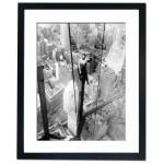 Building a skyscraper in New York city, 1930's Framed Print
