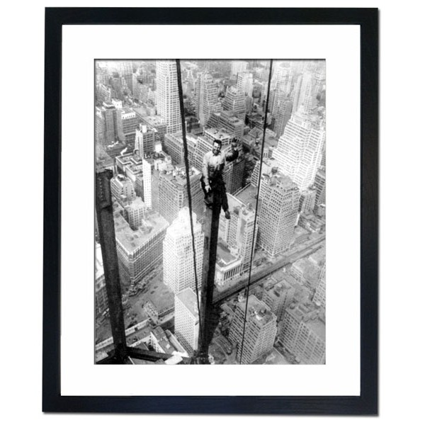 Building a skyscraper in New York city, 1930's Framed Print