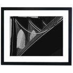 Cables Lead to the Huge Arches on Brooklyn Bridge Framed Print