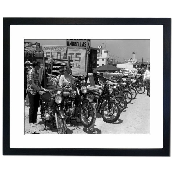 Daytona Beach, Florida 1950 Framed Print
