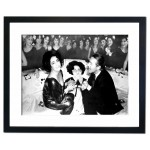 Elizabeth Taylor celebrating 46th Birthday at Studio 54, New York Framed Print
