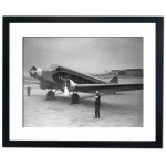 """Golden Clipper"" at Croydon Airport, London 1933 Framed Print"
