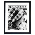 Jacqueline Kennedy at Andrews Air Force, Maryland 1961 Framed Print
