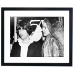 Mick Jagger & Jerry Hall at Studio 54 the famous New York Disco, 1978 Framed Print