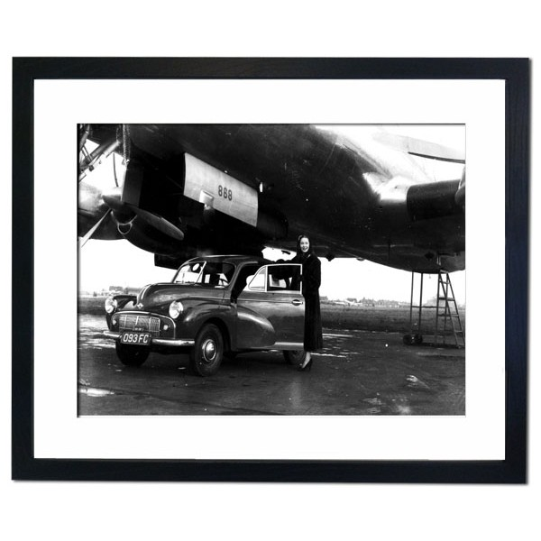 Morris Minor - The first car to be flown across the Atlantic, 1949 Framed Print