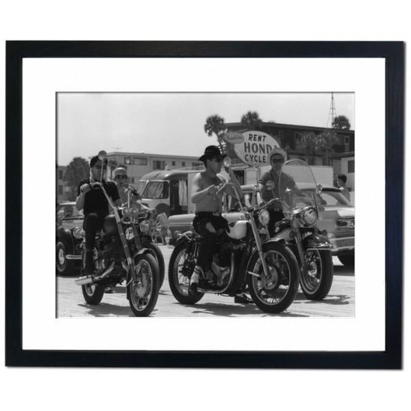 Motorcyclists at Daytona Beach, 1950 Framed Print