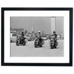 Police on Motorcycles, Daytona Beach 1950 Framed Print