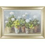 Danhui Nai - White Geraniums Framed