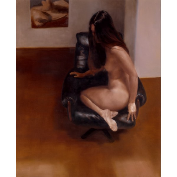 David Knight - Leather Chair