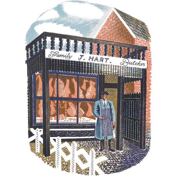 Eric Ravilious - Family Butcher