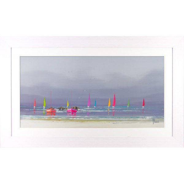 Frederic Flanet - Boat Reflections II Framed Print
