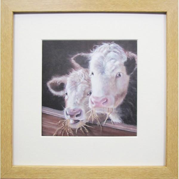 Animal Farm Cows Framed Print