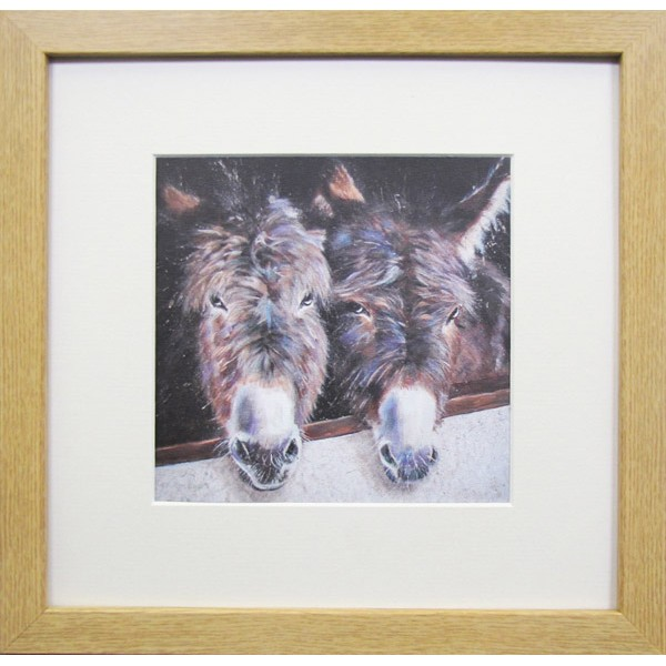 Animal Farm Donkeys Framed Print