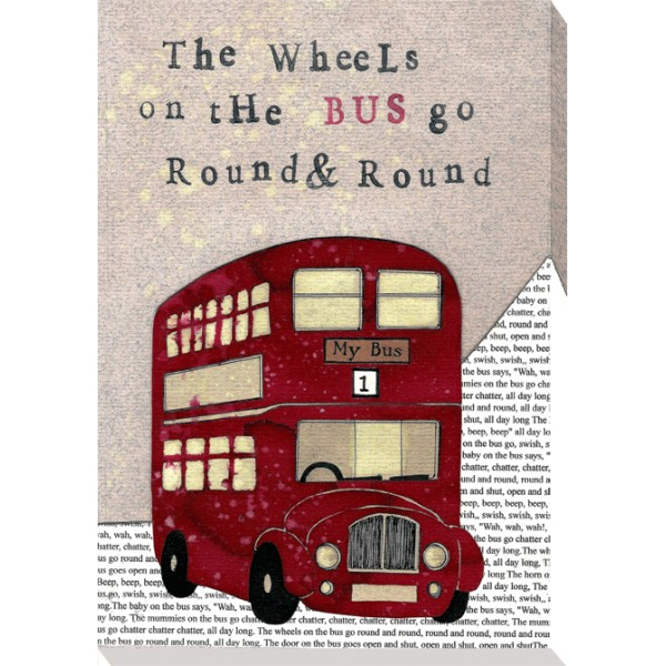 Helena Corbett - Nursery Rhymes - The Wheels On The Bus Canvas Print