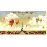 I and B Lane - Ballooning Over Paris Canvas Print
