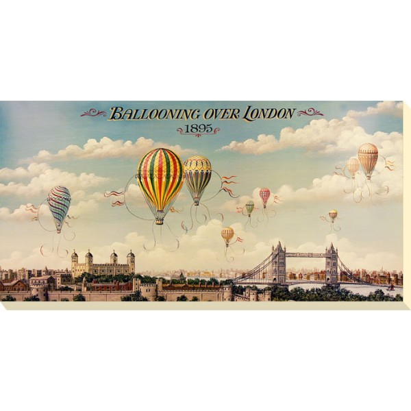 I and B Lane - Ballooning Over London Canvas Print
