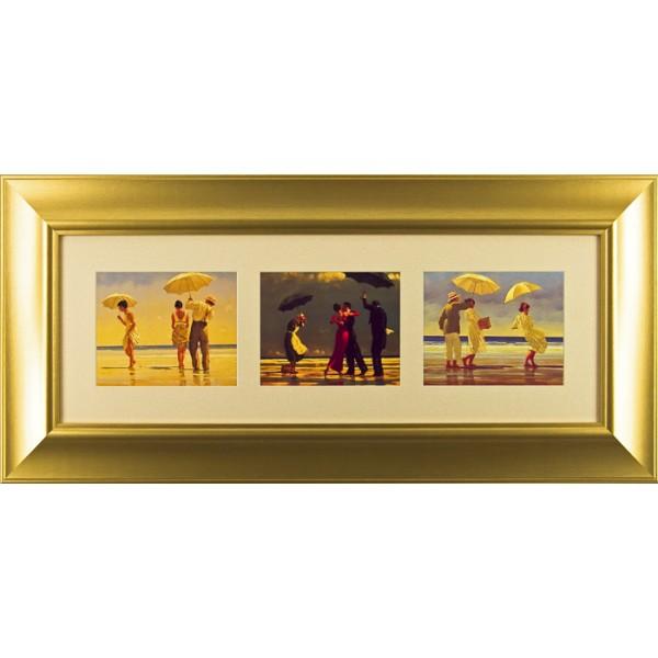 Jack Vettriano - Beach Triptych I Framed