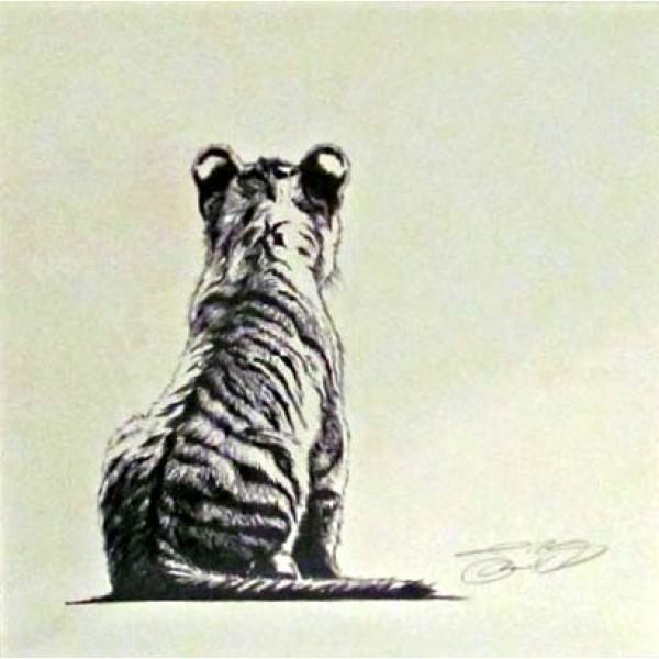 Jamie Boots - Tiger Cub (Framed Original)