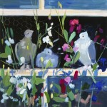 John Cunningham - Pigeons and Sweet Peas