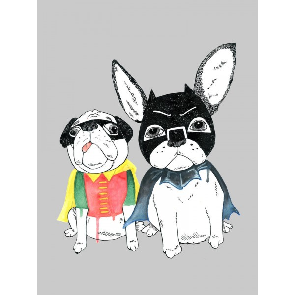 Jolly Awesome - Frenchie and Pug