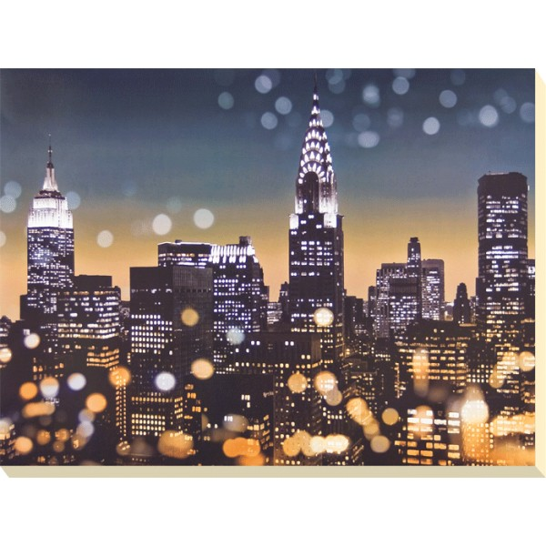 Kate Carrigan - New York Lights I Canvas Print
