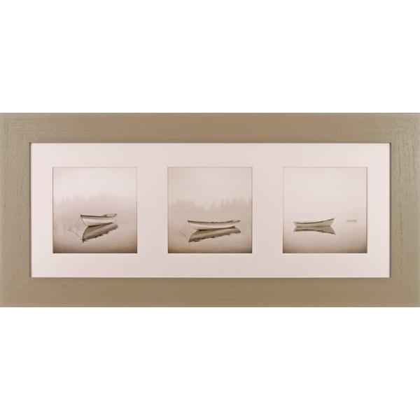 Michael Kahn - Quiet Morning Triptych I Framed Print