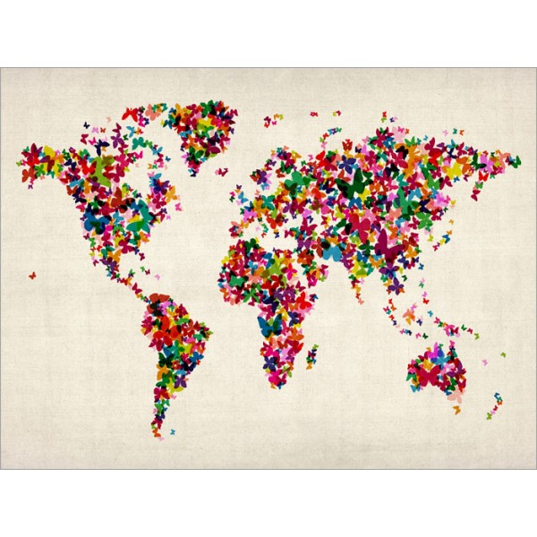 Michael Tompsett - Butterflies Map of the World