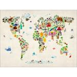 Michael Tompsett - Animal Map of the World for Children and Kids