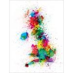 Michael Tompsett - Great Britain UK Map Paint Splashes