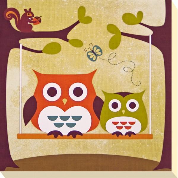 Nancy Lee - Brown Owl & Friends I Canvas Print