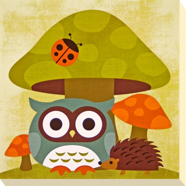 Nancy Lee - Brown Owl & Friends III Canvas Print