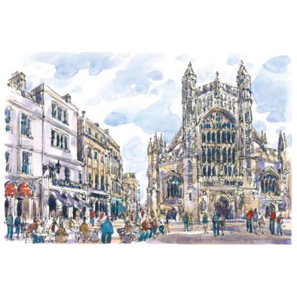 Richard Briggs - Bath, Abbey - The Westfront
