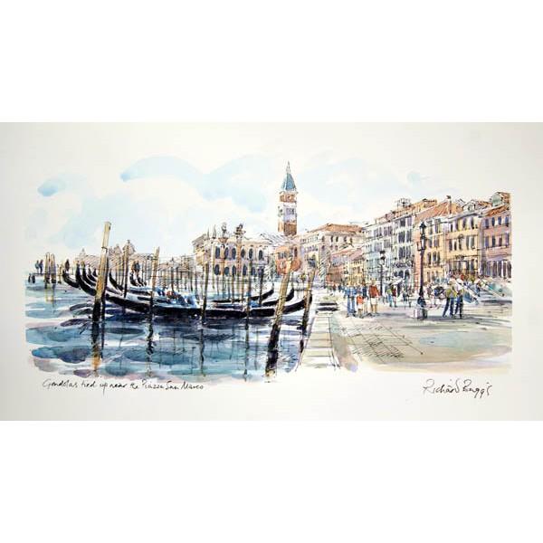 Richard Briggs - Gondolas near Piazza San Marco