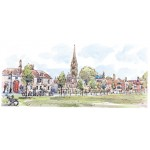 Richard Briggs - Wiltshire, Sailsbury Catherdral and the Green